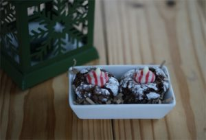 101 Days of Christmas: Chocolate Candy Cane Blossoms