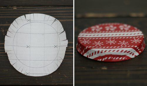 101 Days of Christmas: Covered Jar Lids