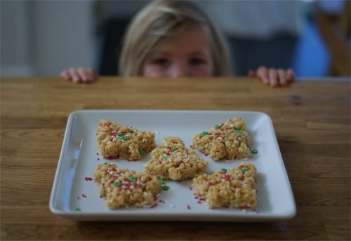 101 Days of Christmas: Rice Krispies Treat Trees