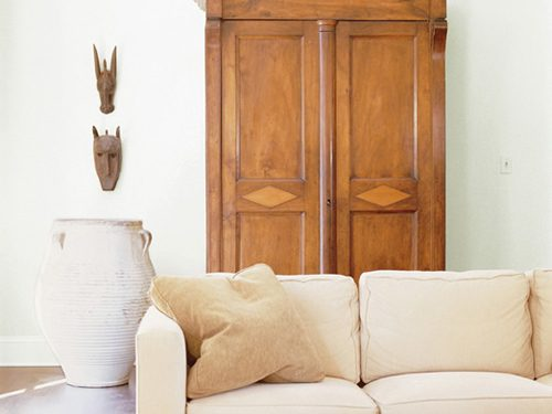 sofa and armoire