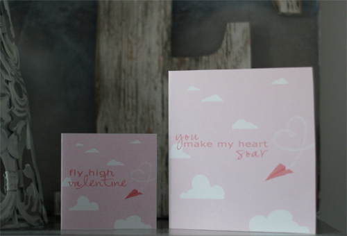 flying high free printable valentine's day cards