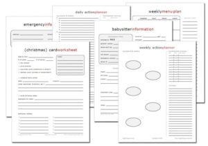 Read more about the article 15 New FREE Home Management Printables