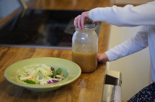 salad with homemade dressing