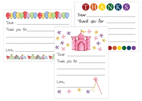 Printable Thank You Card Templates for Kids