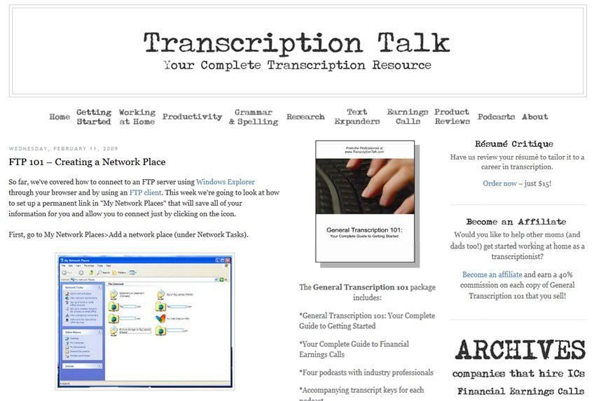 Transcription Talk