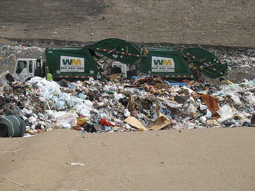 garbage truck landfill