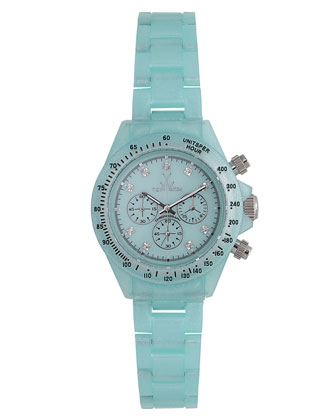 Toy Watch USA Plasteramic Chronograph, Light Blue
