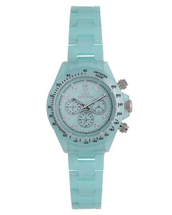 Toy Watch USA Plasteramic Chronograph, Light Blue