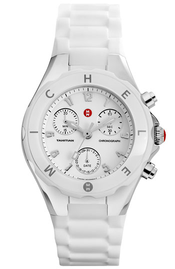 Michele Tahitian Jelly Bean White Watch
