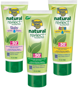 Introducing Banana Boat Natural Reflect Sunblock