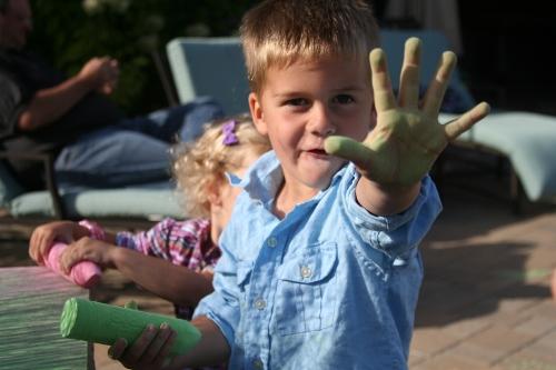 Chalk hand