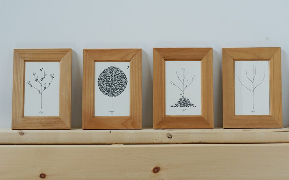 framed greeting cards