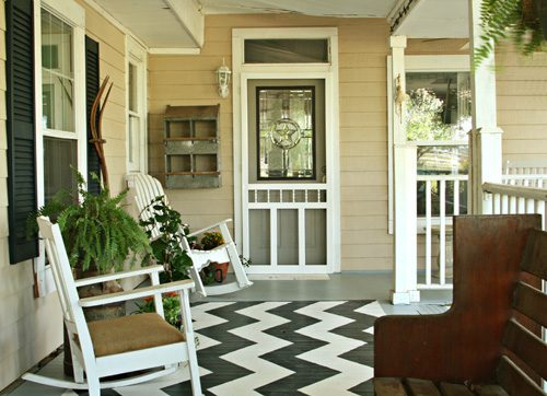 Add Pizzaz To Your Porch With A Painted Rug Life Your Way