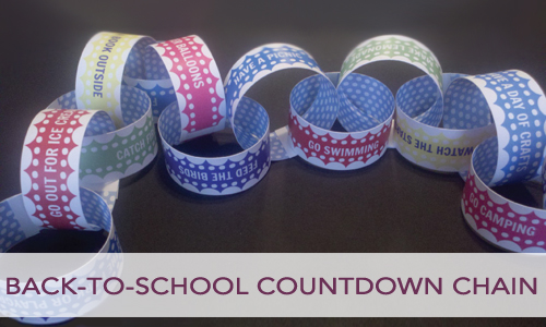 Printable Back-to-School Countdown Chain
