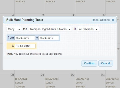 Plan to Eat Bulk Planning Tools