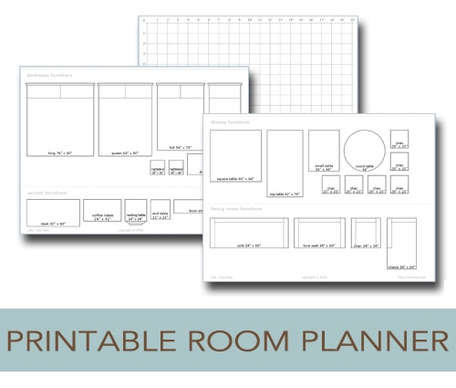 Printable room planner to help you plan your layout life for Free room design help