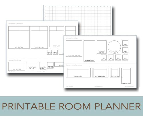 Printable room planner to help you plan your layout life for Room design template grid