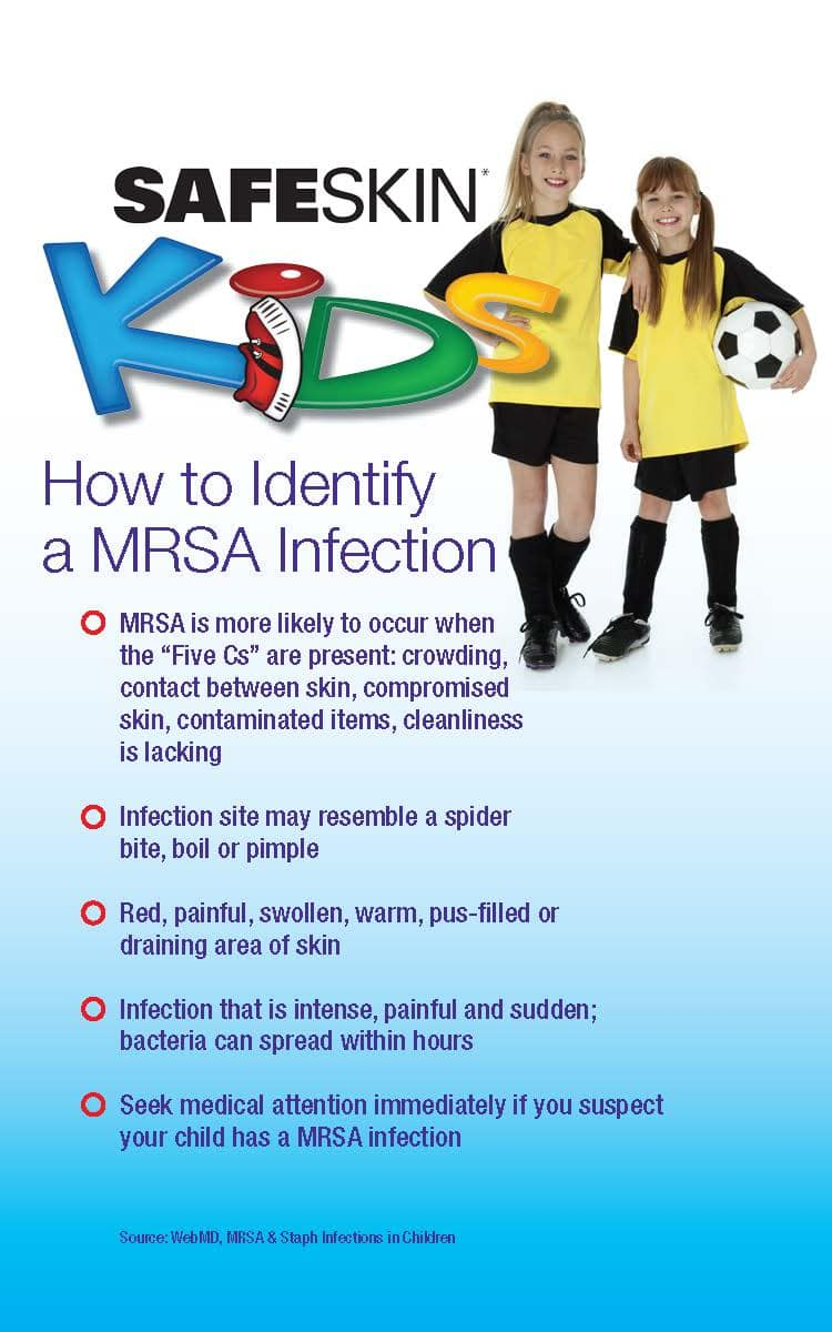 how to identify a MRSA infection