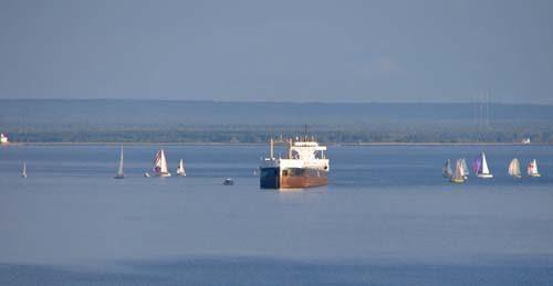 Boats on Lake Superior