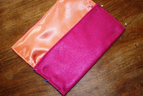 How to Make a Lined Felt Purse