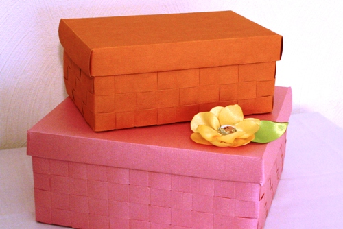 How to make woven paper boxes