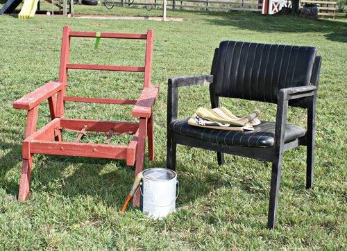 junk chair makeovers