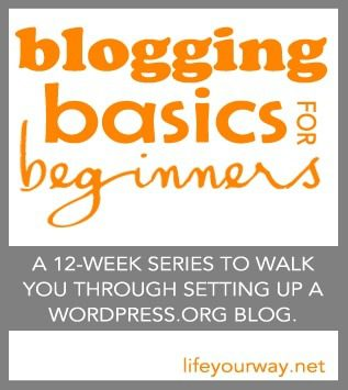 Setting Up the Twenty Eleven Theme {Blogging Basics for Beginners}