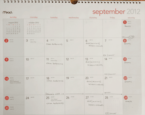 Schedule / Calendar