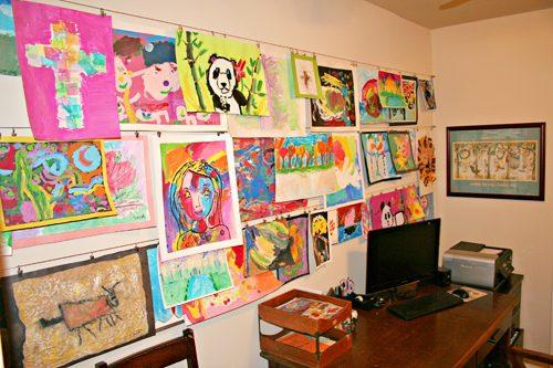 5 Ways to Display Kids' Artwork