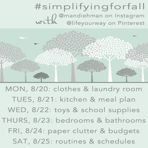 Simplify for Fall Challenge with @lifeyourway #simplifyingforfall http://bit.ly/O94Ww4