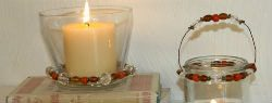 Dress Up Your Candles with Beads