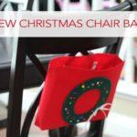 101 Days of Christmas: No-Sew Christmas Chair Backer
