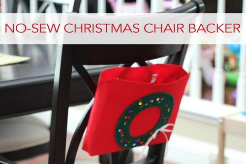 No-Sew Christmas Wreath Chair Backer