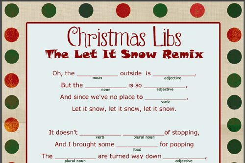 Christmas Mad Libs