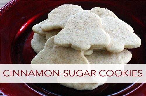 ... to dress them up a bit, and these cinnamon sugar cookies do just that