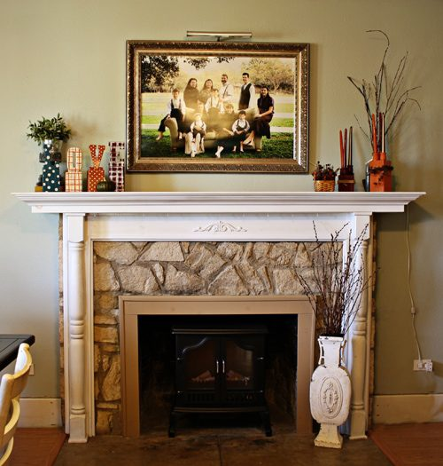 Step by step mantle decoration