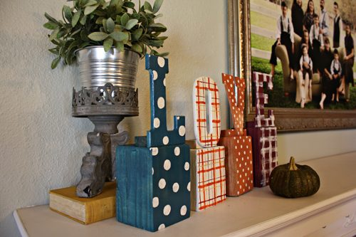 step by step mantle decorating
