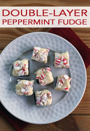 Double-Layer Peppermint Fudge