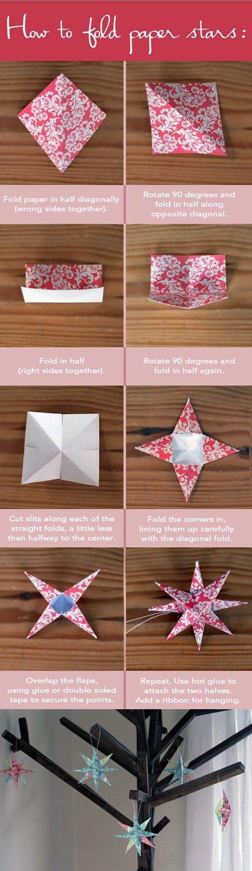 101 days of christmas paper star ornaments life your way