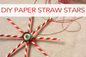 101 Days of Christmas: DIY Paper Straw Stars