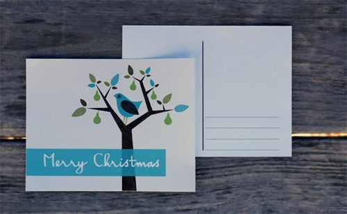 101 Days of Christmas: Partridge in a Pear Tree Postcards