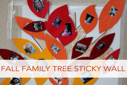 Fall Family Tree Sticky Wall