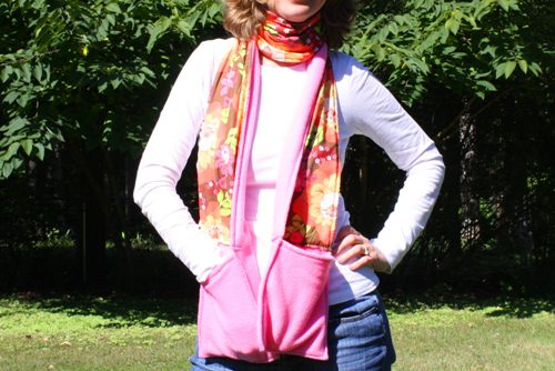 DIY Fleece Scarf with Pockets