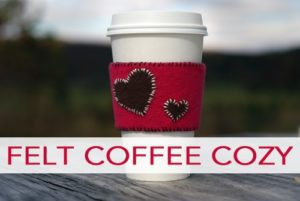 101 Days of Christmas: Felt Coffee Cozy