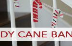 101 Days of Christmas: Fabric Scrap Candy Cane Banner