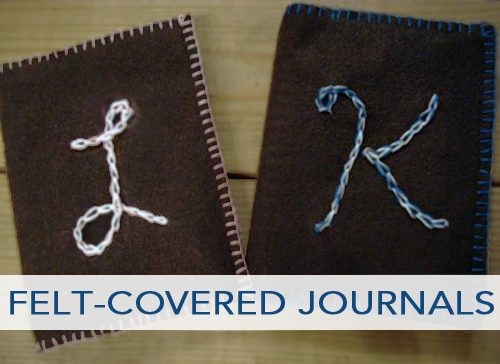 Felt-Covered Journals