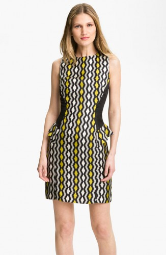 milly viola geo print peplum dress