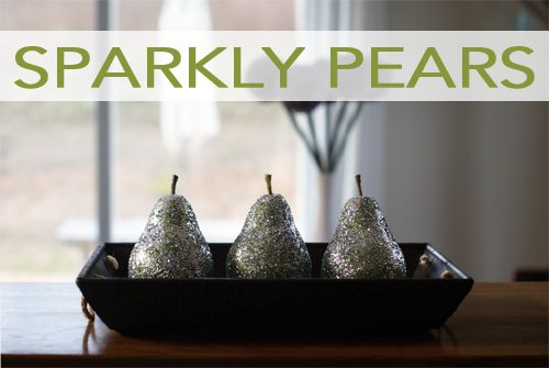 101 Days of Christmas: Sparkly Pears