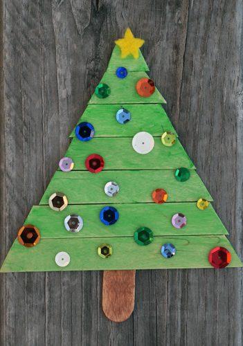 101 Days of Christmas: Popsicle Stick Christmas Tree