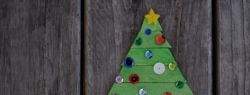101 Days of Christmas: Popsicle Stick Christmas Tree